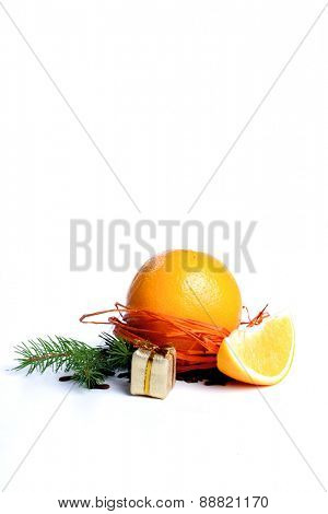 Christmas daceoration on white background