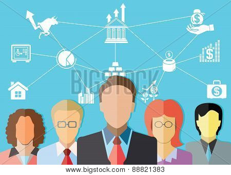 business people and financial concept