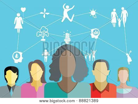 people group and happy life concept