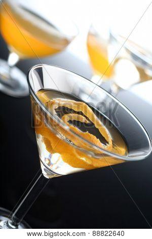 Studio shot of martini drink