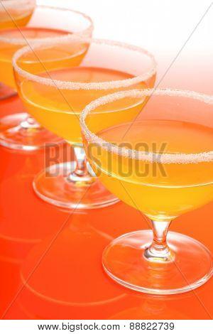 Studio shot of margartia drink