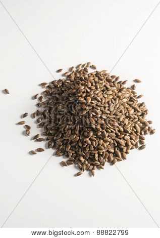 Flax seeds - a source of vitamin E. An isolated image.