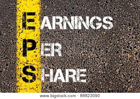 Business Acronym Eps As Earnings Per Share