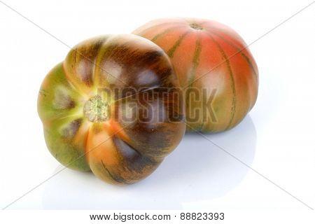 Studio shot of black tomato