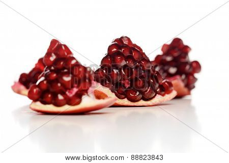 Close-up of pomegranate seeds