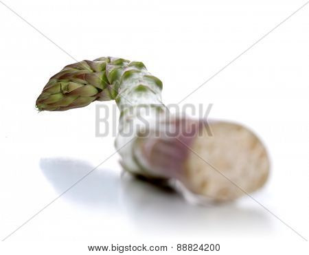 Close-up of asparagus on white background