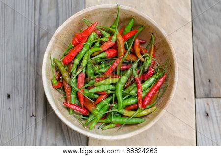 Guinea-pepper In Wooden Bowl