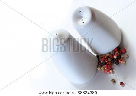 Studio shot of pepper and salt pot