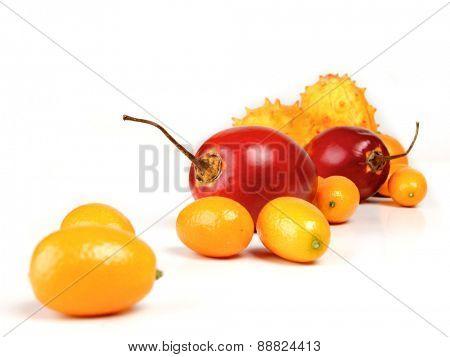Studio shot of exotic fruits