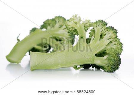 Broccoli  on white background - close up