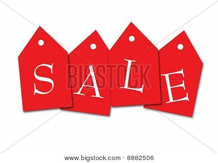 four standard sale tags