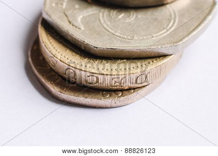 British One-pound Coins