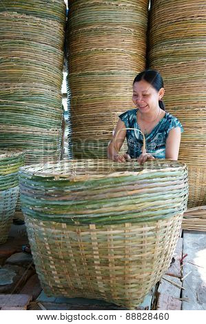 Asia Trade Village, Bamboo Basket, Mekong Delta