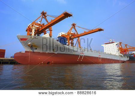 Commercial Ship Floating In Ship Yard Loading Container Use For Vessel And Water Transport ,logistic