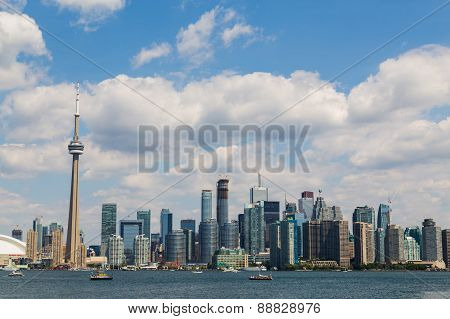 Toronto Skyline During The Summer