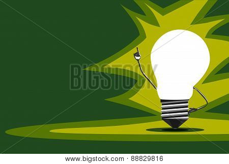Glowing Light Bulb Character, Insight