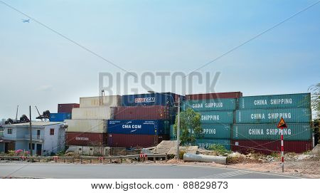 Containers At Saigon Commercial Port