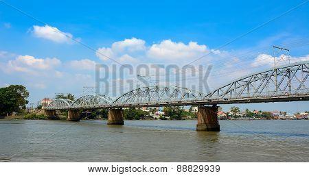 Old Railway Bridge In Vietnam
