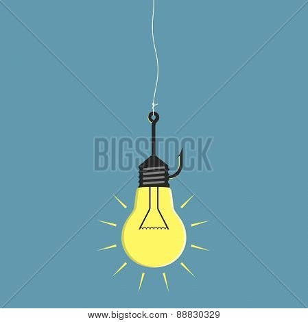 Lightbulb On Fishhook