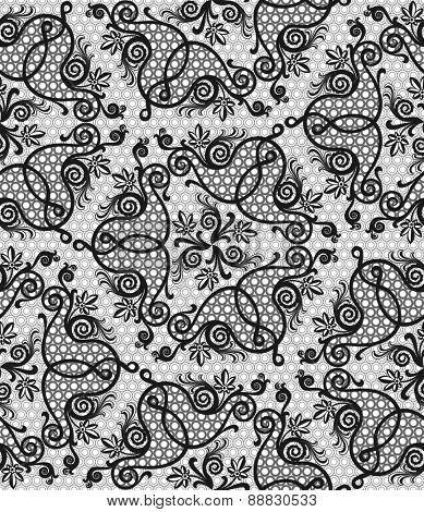 floral baroque seamless lace pattern