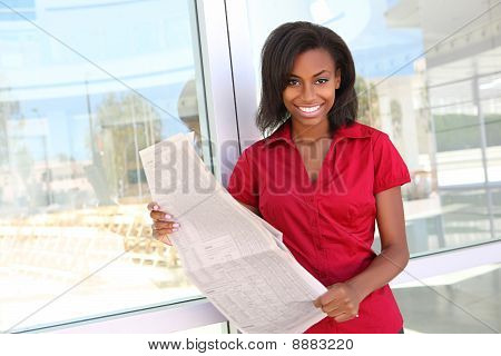 Pretty African Business Woman