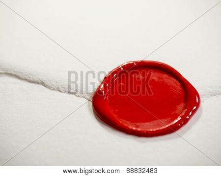 White letter with red sealing wax