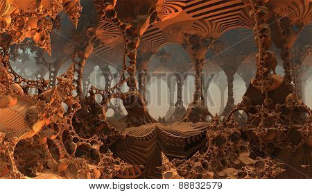 Virtual science-fiction scenery