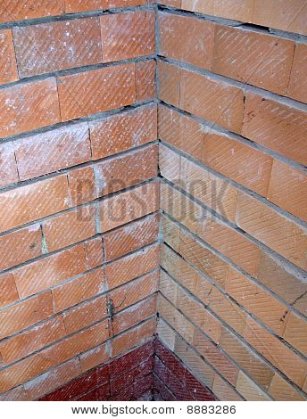 Vintage Red Brick Wall, Construction Corner