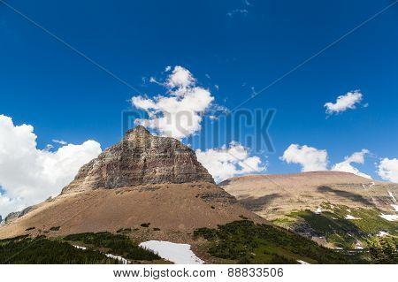Logan Pass Landscape View In Glacier National Park