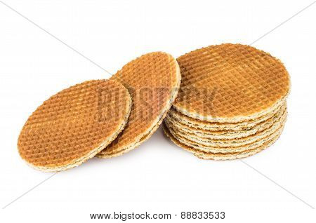 Several Round Waffles