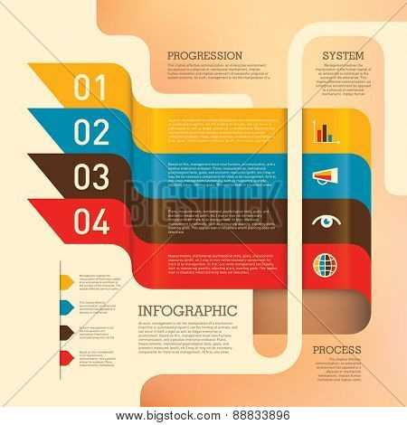 Business info graphic design in color. Vector illustration.