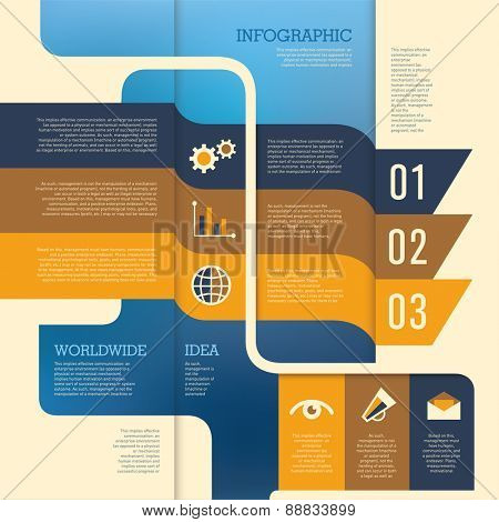 Conceptual info graphic design. Vector illustration.