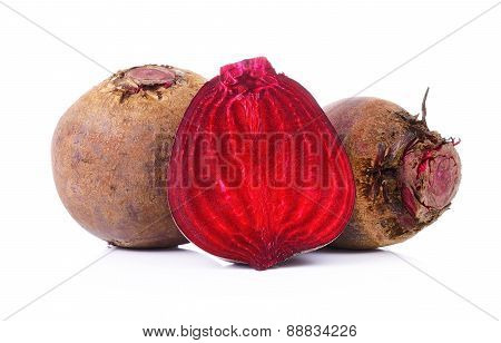 Red Beetroot On A White Background