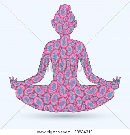 Yoga Pose Isolated Image