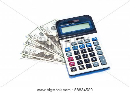 Isolated Us Dollars And Calculator