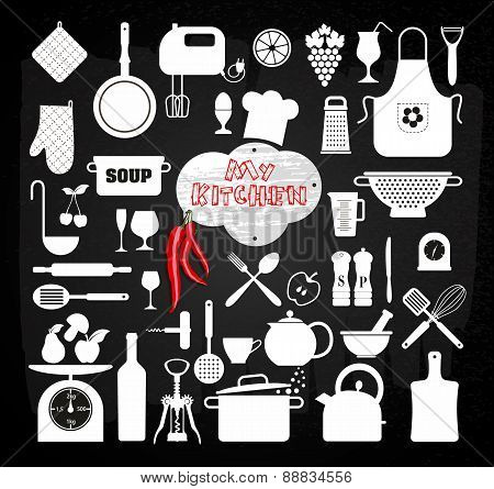 Kitchen icons set