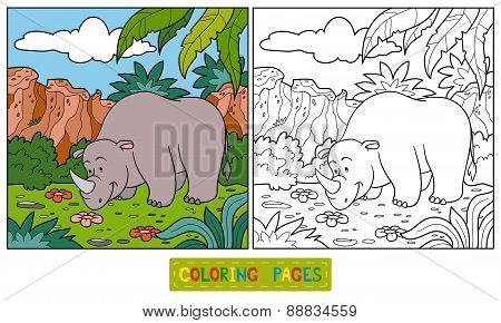 Coloring Book (rhino)