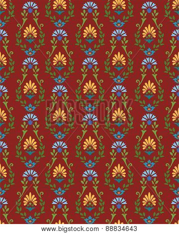 The Burgundy Pattern With Cor...
