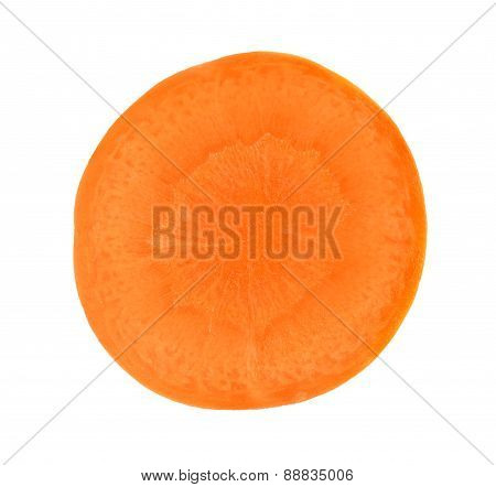 Slice Carrot Isolated On A White Background