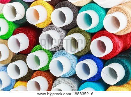 Bobbins Sewing Threads Multicolored