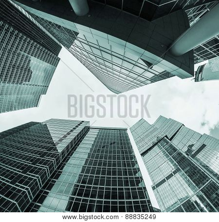 Modern Skyscrapers Of Glass And Metal