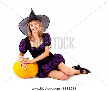 Fairy With A Pumpkin
