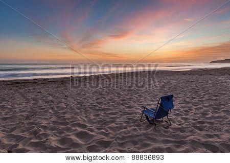 Beach Chair On The Beach, Southern California
