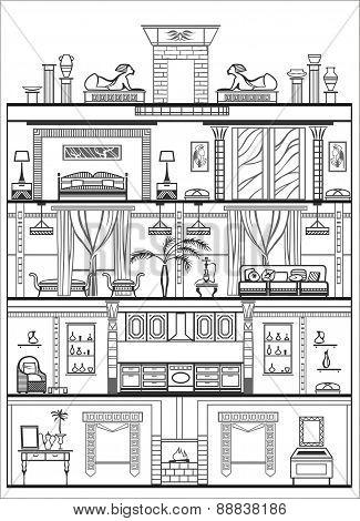 Interior Silhouette. Vector Illustration