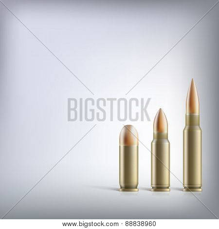Rifle bullets.