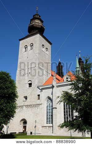 Old And Picturesque Cathedral Of Visby