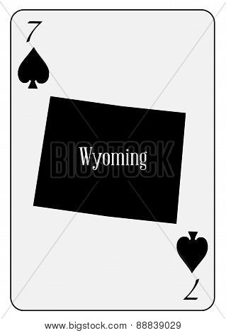 Usa Playing Card 7 Spades