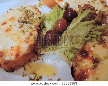 Bruschetta antipasto on a plate