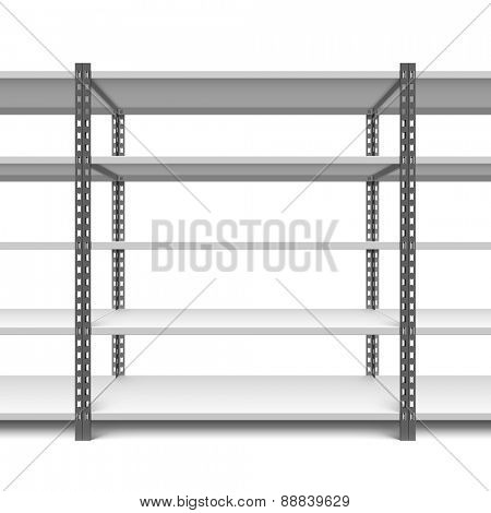 Storage shelves vector illustration