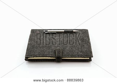 Black Fabric Case Book .